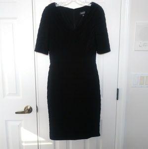 Adrianna Papell V Neck Shutter Dress
